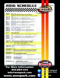 winners thanksgiving hours southern national motorsports park releases 2016 schedule