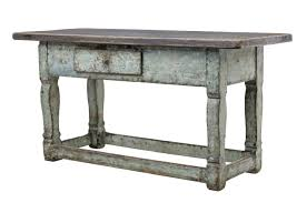 19th century painted swedish pine kitchen table c 1840 sweden