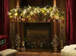 fireplace christmas garland best home design top with fireplace