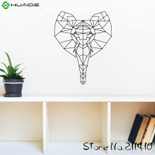 aliexpress com buy geometric elephant wall decal sticker