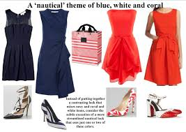 Nautical Theme Dress - planning your in anticipation of a wedding u0027s color story