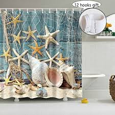 Seashell Shower Curtains Seashell Shower Curtain Decoration For Bathroom 3d
