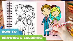 how to draw bride and groom video i bride and groom coloring pages