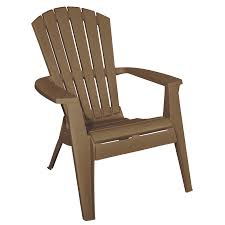 Plastic Stackable Lawn Chairs Shop Adams Mfg Corp Earth Brown Resin Stackable Patio Adirondack