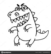 angry cartoon dragon vector illustration u2014 stock vector