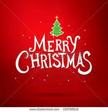 Merry Christmas Greetings Words White Merry Christmas Word Xmas Tree Stock Illustration 450333178