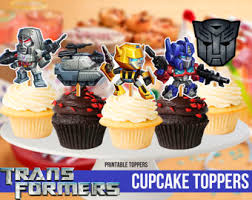 Transformers 12 cupcake toppers