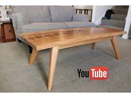 Midcentury Coffee Table Mid Century Modern Live Edge Coffee Table Youtube