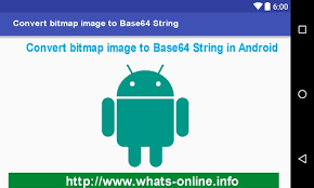 android bitmap how to convert bitmap to base64 string in android exle whats
