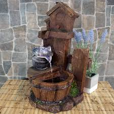 Indoor Standing Water Fountains by Sunnydaze Birdhouse And Silver Bucket Tiered Indoor Tabletop Water