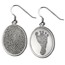 memorial jewelry wholesale fingerprint memorial jewelry sterling silver earrings