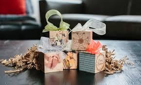 custom wood photo block ornament groupon goods