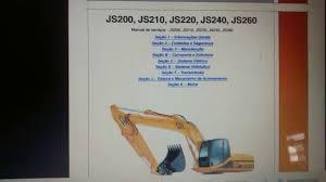 manual de serviço escavadeira jcb 200 210 220 240 260 youtube
