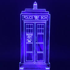 Neon Desk Lamp Amazing Multicolors Light Doctor Who Tardis Lights Acrylic Police