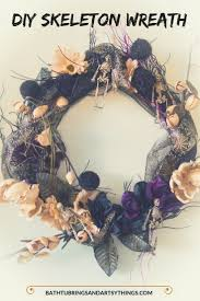 make a halloween wreath bath tub rings and artsy things create a beautiful skeleton