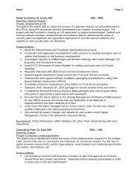 combination business analyst resume template page 3