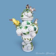 Meissen Vase Value A Superb Large Meissen Porcelain Snowball Decorated Vase And Lid