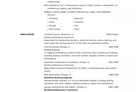 Building Maintenance Resume Sample by Condominium Manager Resume Examples Reentrycorps