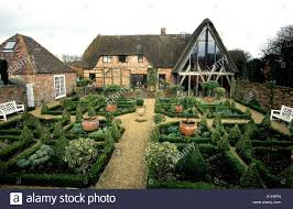 Country Farmhouse Box Hedging Pareterre At Wooten Rivers A Traditional English