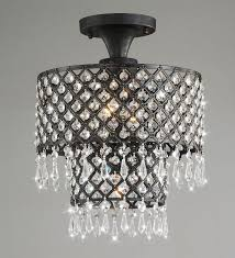 jojospring melinda 3 light antique black crystal flush mount