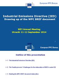 European Ippc Bureau European Commission 3 Wei 2014 Ied Best Available Techniques Wpc Pdf Air Pollution