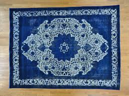 Persian Oriental Rugs by 9 U0027 X 12 5 U0027 Denim Blue Overdyed Persian Tabriz Barjasta Oriental