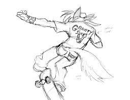 dj skateboard sketch by inspectornills on deviantart