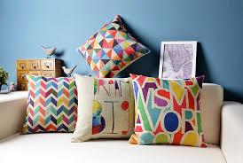 Ikea geometric cushion covers decorative pillows colorful cush