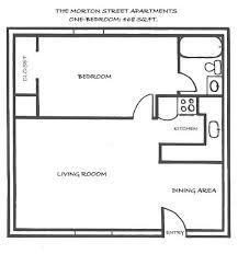 1 bedroom house floor plans floor plan single apartment design cottage planning three ideas