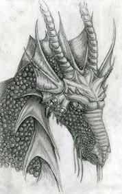 drawn dragon pencil drawing pencil and in color drawn dragon