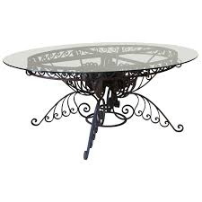 spectacular oval wrought iron art deco dining table france 1930s