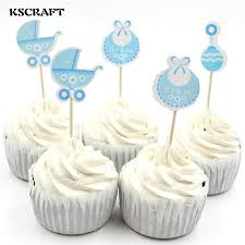 baby shower cake decorations kscraft baby wagon party cupcake toppers picks decoration for kids
