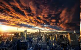 New York landscapes images Nature landscape clouds sunset new york city cityscape jpg