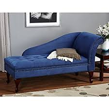 Loveseat With Chaise Lounge Amazon Com Blue Chaise Storage Lounge Chair Sofa Loveseat For