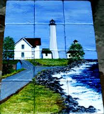 lighthouse tile murals