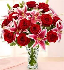 roses and lilies stargazer lilly and bouquet wedding stargazer