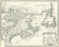 New France Map by Nova Scotia Archives The Eassons And The Hoyts