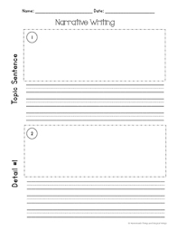 narrative writing template first grade by homemade things and