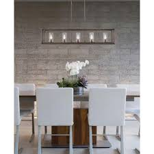 Island Pendant Lights by Null Caelan Collection 5 Light Gunmetal Bronze Island Pendant