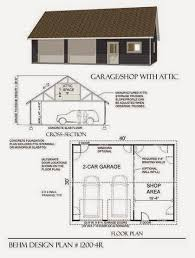 garage plans blog behm design garage plan examples garage garage plan 1200 4r large 2 car with shop space 40 x 30