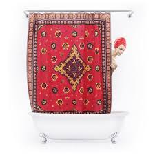 persian rug shower curtain the green head