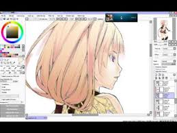 making gradients on hair and background paint tool sai youtube