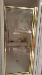Gold Shower Doors Can I Paint My Gold Tone Shower Door Metal Hometalk