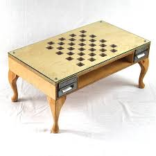 chess board coffee table cut out chess coffee table by tilt originals notonthehighstreet com