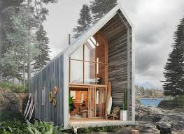 architect design kit home affordable flat pack surf shack shelter operates completely off