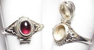 buy rings silver images Sterling silver garnet poison rings gpr 8 buy indian waresbuy jpg
