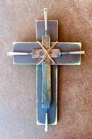 109 best crosses images on pinterest wood crosses crosses decor scrap metal cross by birmingham metal artist catherine partain