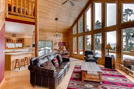 alpenhaus custom cabin with tub game room views