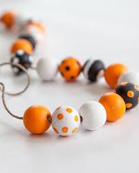 diy halloween wood bead garland eighteen25