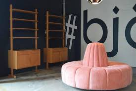 circle banquette settee lobby sofa custom made channeled pink cinderella round settee for sale at 1stdibs